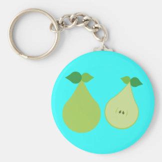 Modern Green Pear Key Chain