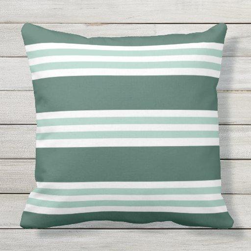 Modern Green Pillow : Modern Green Stripe Pattern Outdoor Pillow Zazzle