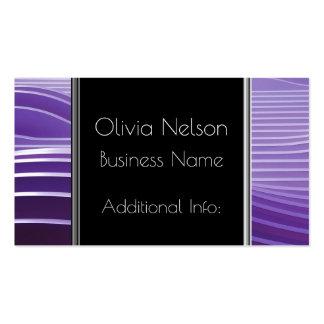Modern Green Stripes Business Card