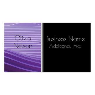 Modern Green Stripes Business Card 3