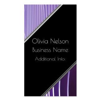 Modern Green Stripes Business Card 4