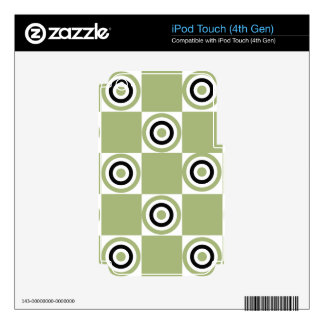 Modern Green Targets Decal For iPod Touch 4G