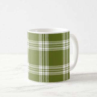 Modern Green Tartan Plaid Coffee Mug