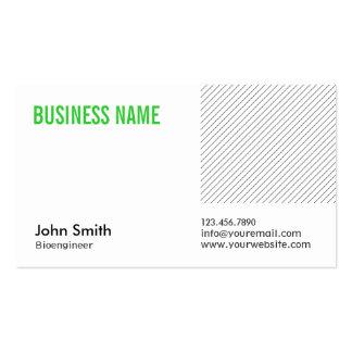 Modern Green Title Bioengineer Business Card