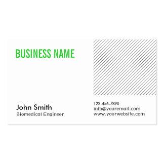 Modern Green Title Biomedical Business Card
