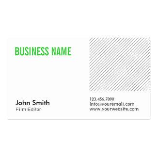 Modern Green Title Film Editor Business Card