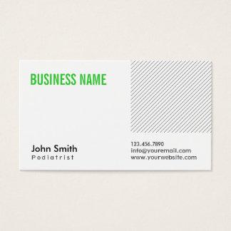 Modern Green Title Podiatrist Business Card