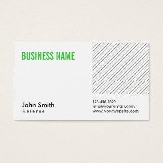 Modern Green Title Referee Business Card