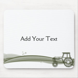 Modern Green Tractor Illustration Mousepad