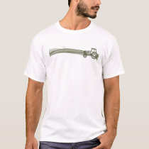 Modern Green Tractor Illustration T-shirt