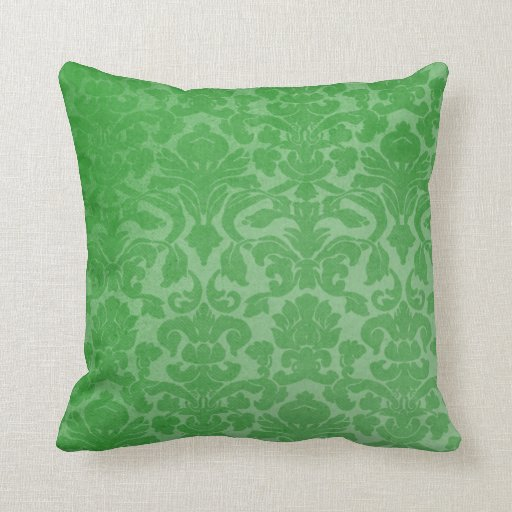 Modern Green Vintage Design Throw Pillow