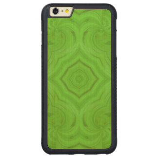 Modern Green wood pattern Carved Maple iPhone 6 Plus Bumper Case
