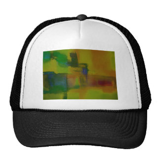 Modern Green Yellow Abstract Mesh Hat
