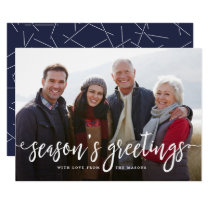 Modern Greetings Holiday Photo Card