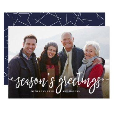 Christmas Themed Modern Greetings Holiday Photo Card
