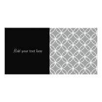 Modern Grey and White Geometric Circles Pattern Card