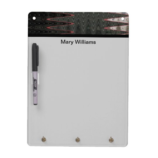 modern grey black abstract art dry erase board