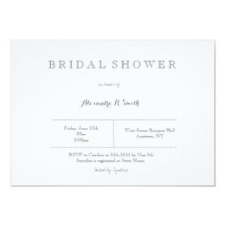 Modern grey bridal shower invitations