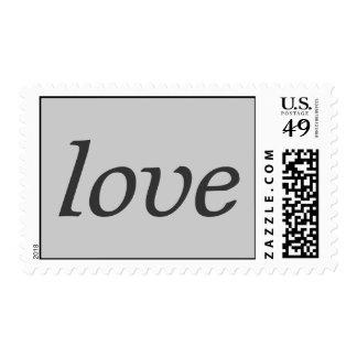Modern Grey Calligraphic Love Wedding Postage