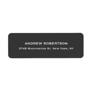 Modern Grey Elegant Return Address Label