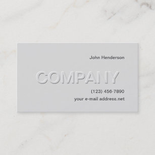 Embossed Business Cards Zazzle