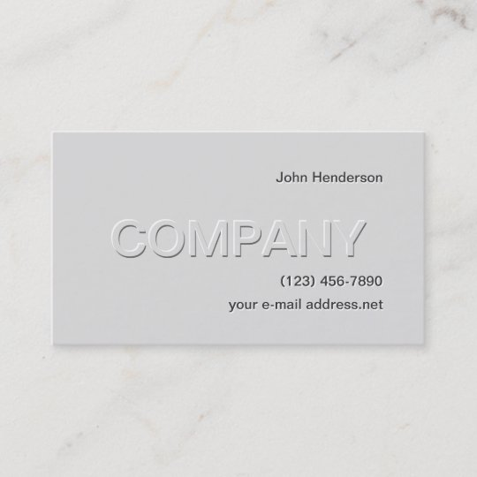 Modern grey embossed business card zazzle modern grey embossed business card colourmoves