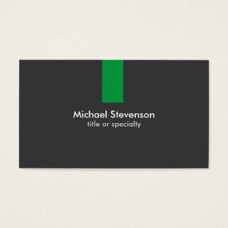 Modern Grey Green Stripe Standard Business Card