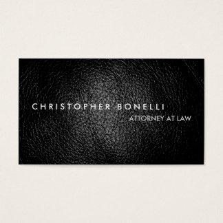 Modern Grey Leather Effect Plain Business Card