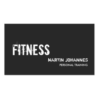 Modern Grey Personal Trainer Business Card