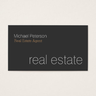 Modern Grey Real Estate Agent Business Card