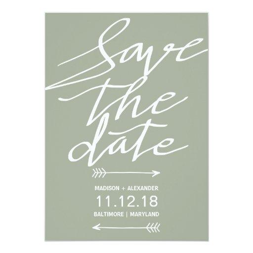 modern grey script simple save the date card zazzle