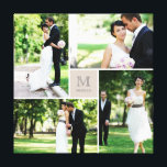 "Modern Grid Monogram Wedding Photo Collage Canvas<br><div class=""desc"">Designed by fat*fa*tin. Easy to customize with your own text,  photo or image. For custom requests,  please contact fat*fa*tin directly. Custom charges apply.  www.zazzle.com/fat_fa_tin www.zazzle.com/color_therapy www.zazzle.com/fatfatin_blue_knot www.zazzle.com/fatfatin_red_knot www.zazzle.com/fatfatin_mini_me www.zazzle.com/fatfatin_box www.zazzle.com/fatfatin_design www.zazzle.com/fatfatin_ink</div>"