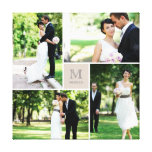 Modern Grid Monogram Wedding Photo Collage Canvas<br><div class='desc'>Designed by fat*fa*tin. Easy to customize with your own text,  photo or image. For custom requests,  please contact fat*fa*tin directly. Custom charges apply.  www.zazzle.com/fat_fa_tin www.zazzle.com/color_therapy www.zazzle.com/fatfatin_blue_knot www.zazzle.com/fatfatin_red_knot www.zazzle.com/fatfatin_mini_me www.zazzle.com/fatfatin_box www.zazzle.com/fatfatin_design www.zazzle.com/fatfatin_ink</div>