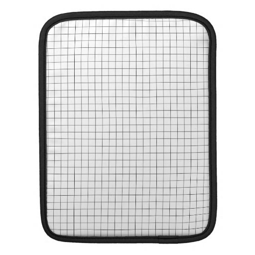 Modern Grid pattern black & white Sleeves For iPads