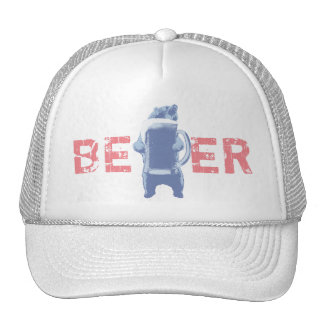 Modern Grizzly Bear & Giant Beer Trucker Hat