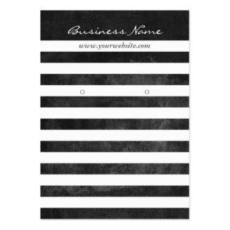 Modern Grunge Dark Stripes Earring Card Large Business Cards (Pack Of 100)