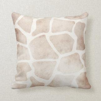 Modern Grunge Giraffe African Pattern Cushion Pillow