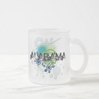Modern Grunge Halftone Alabama Mug Glass