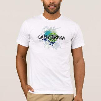 Modern Grunge Halftone California T-Shirt