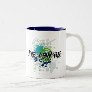 Modern Grunge Halftone Delaware Mug