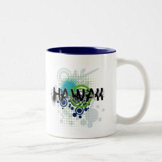 Modern Grunge Halftone Hawaii Mug