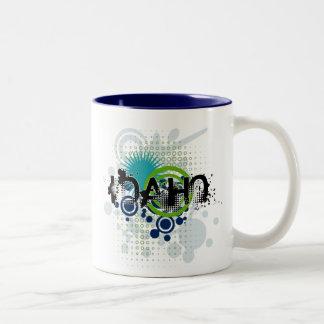 Modern Grunge Halftone Idaho Mug
