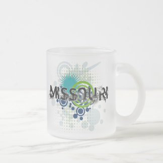 Modern Grunge Halftone Missouri Mug Glass