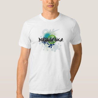 Modern Grunge Halftone Nebraska T-Shirt