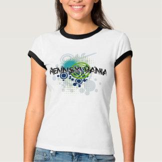 Modern Grunge Halftone Pennsylvania T-Shirt Womens