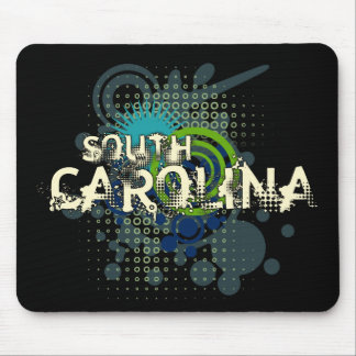 Modern Grunge Halftone South Carolina Mousepad Dk