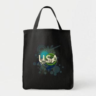 Modern Grunge Halftone USA Tote Bag