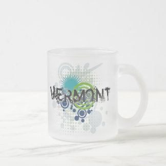 Modern Grunge Halftone Vermont Mug Glass