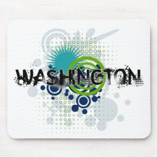 Modern Grunge Halftone Washington Mousepad