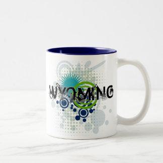 Modern Grunge Halftone Wyoming Mug